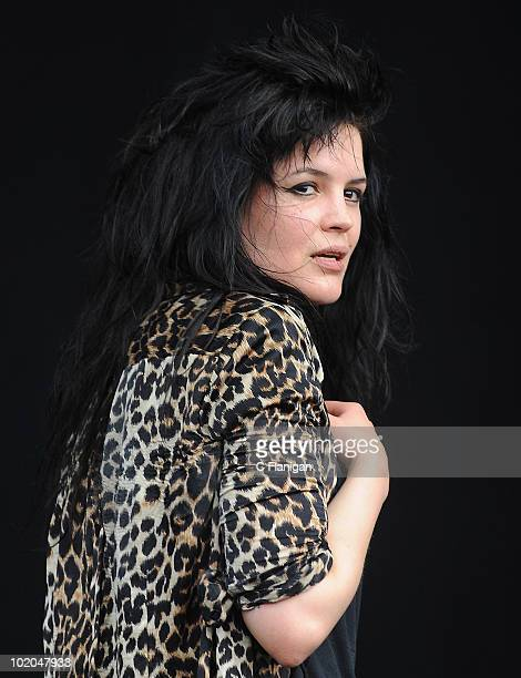Musician Alison Mosshart of The Dead Weather performs during day 3 of the Bonnaroo Music and Arts Festival at the Bonnaroo Festival Grounds on June...
