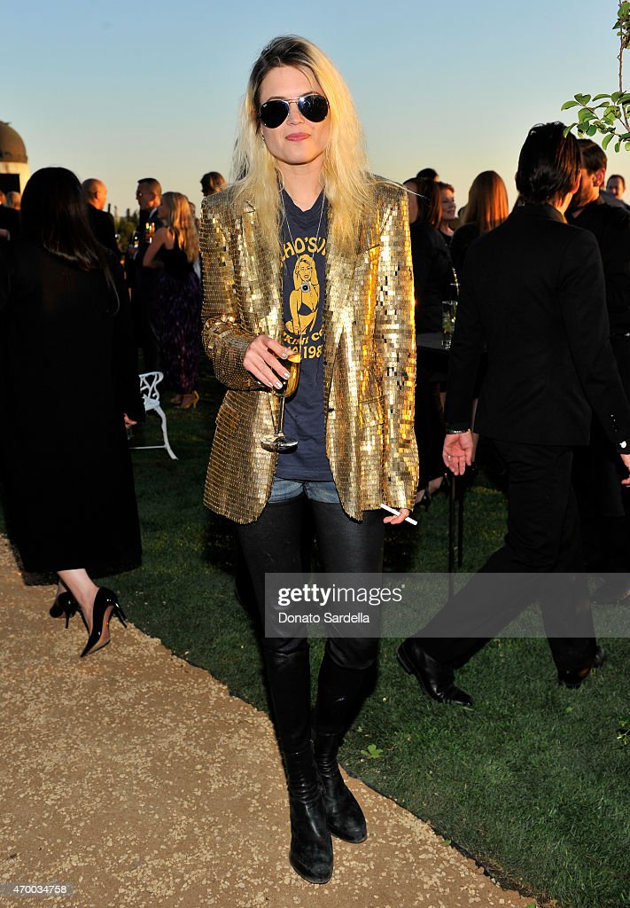 Musician Alison Mosshart of The Kills attends the Burberry 'London in Los Angeles' event at Griffith Observatory on April 16, 2015 in Los Angeles,