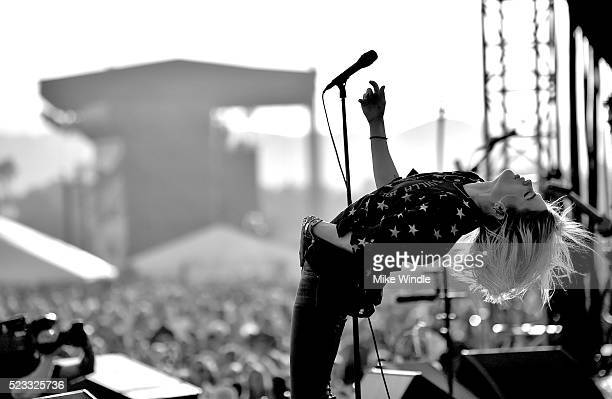 Musician Alison Mosshart of The Kills performs onstage during day 1 of the 2016 Coachella Valley Music Arts Festival Weekend 2 at the Empire Polo...