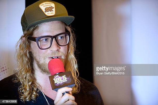Musician Allen Stone at Radio Row during the 2015 Billboard Music Awards at MGM Grand Garden Arena on May 16 2015 in Las Vegas Nevada