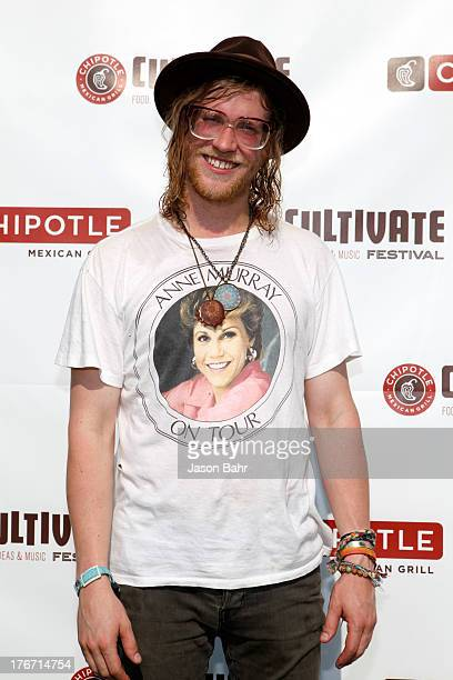 Musician Allen Stone attends Chipotle presents Cultivate Denver a culinary celebration in Denver''s City Park on August 17 2013 in Denver Colorado