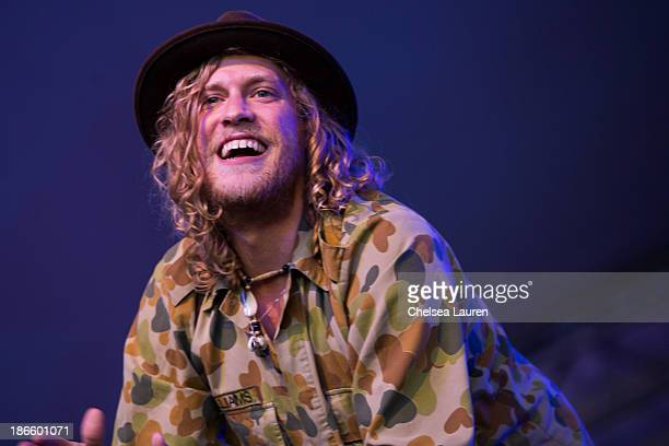 Musician Allen Stone performs at the 2013 Voodoo Music Arts Experience at City Park on November 1 2013 in New Orleans Louisiana