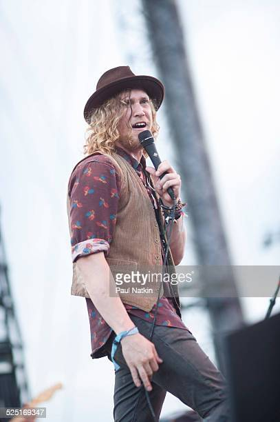 Musician Allen Stone performs at the Charter One Pavilion Chicago Illinois June 28 2013
