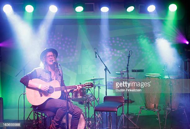 Musician Allen Stone performs onstage at the SXSW Green Music Party during the 2013 SXSW Music Film Interactive Festival at IFC Crossroads House on...