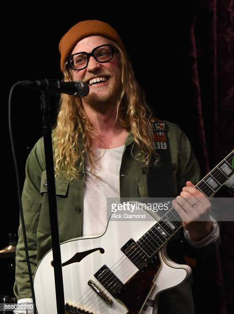 Musician Allen Stone performs onstage during the Grand Opening of Analog at Hutton Hotel on December 7 2017 in Nashville Tennessee