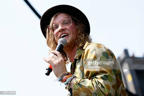 Musician Allen Stone plays a set during Chipotle''s Cultivate Denver at City Park on August 17 2013 in Denver Colorado