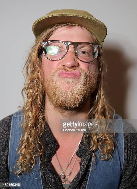 Musician Allen Stone poses for a portrait during SONOS Studio PANDORA An Evening with Allen Stone on July 27 2015 in Los Angeles California