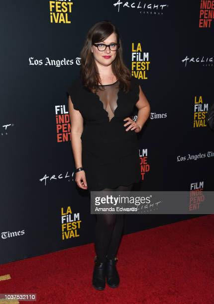 Musician Allie Goertz arrives at the 2018 LA Film Festival Gala Screening of 'The Body' at the Writers Guild Theater on September 21 2018 in Beverly...