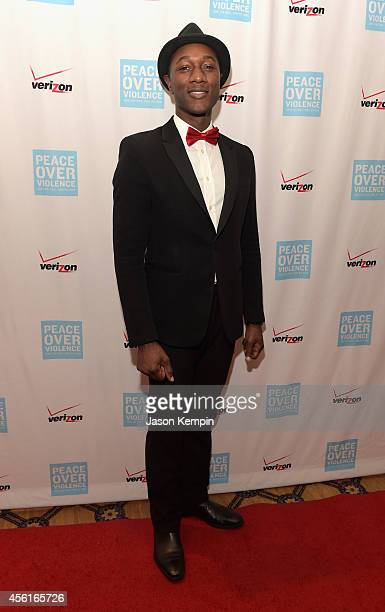 Musician Aloe Blacc attends the Peace Over Violence 43rd annual Humanitarian Awards at The Langham Huntington Pasadena on September 26 2014 in...