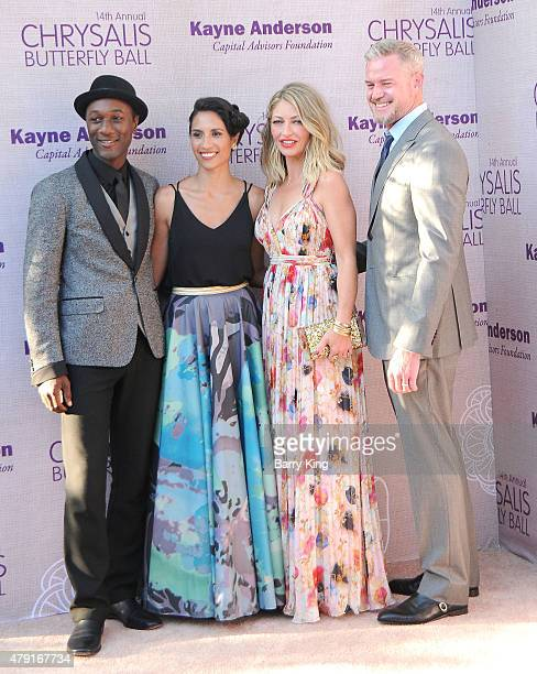 Musician Aloe Blacc Maya Jupiter actress Rebecca GayheartDane and actor Eric Dane attend the 14th annual Chrysalis Butterfly Ball sponsored by Audi...