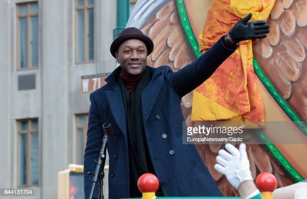 Musician Aloe Blacc participates in the 90th Macys Thanksgiving Day Parade in New York City New York November 24 2016