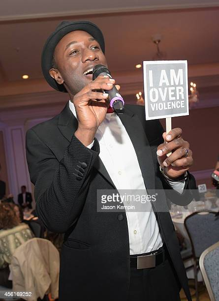 Musician Aloe Blacc performs during the Peace Over Violence 43rd annual Humanitarian Awards at The Langham Huntington Pasadena on September 26 2014...