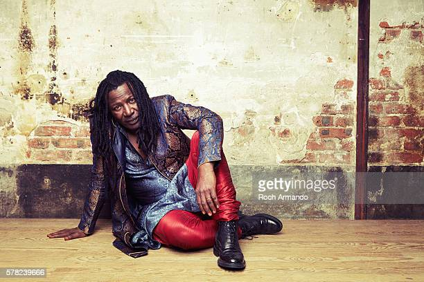 Musician Alpha Blondy is photographed for Positif on September 5 2015 in Paris France