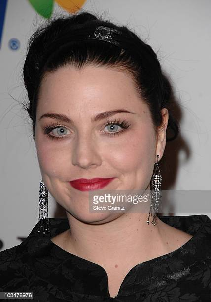 Musician Amy Lee of Evanescence attends the 2008 Clive Davis PreGRAMMY party at the Beverly Hilton Hotel on February 9 2008 in Los Angeles California