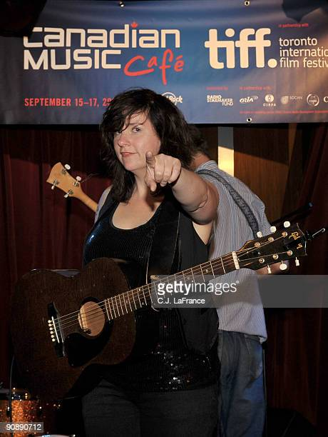 Musician Amy Millan performs at The Canadian Music Cafe showcase held at the Hard Rock Cafe on September 17 2009 in Toronto Canada