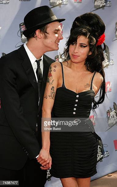 EMBARGO** Musician Amy Winehouse and husband musician Blake FielderCivil arrive to the 2007 MTV Movie Awards held at the Gibson Amphitheatre on June...