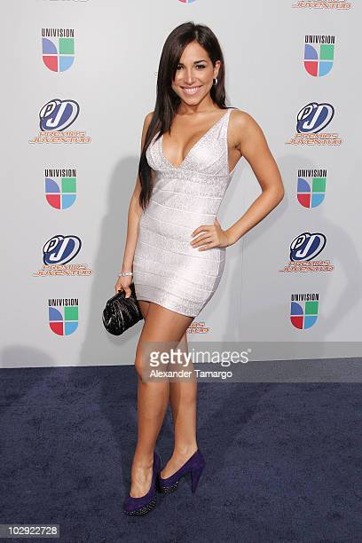 Musician Ana Isabelle attends the Univision Premios Juventud Awards at BankUnited Center on July 15 2010 in Miami Florida
