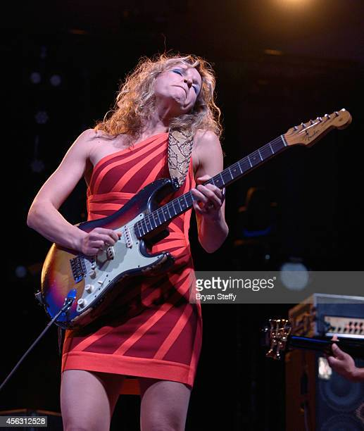 Musician Ana Popovic performs during the Big Blues Bender at the Riviera Hotel & Casino on September 28, 2014 in Las Vegas, Nevada.