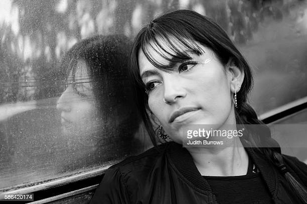 Musician Ana Tijoux from Chile prior to her performance at WOMAD