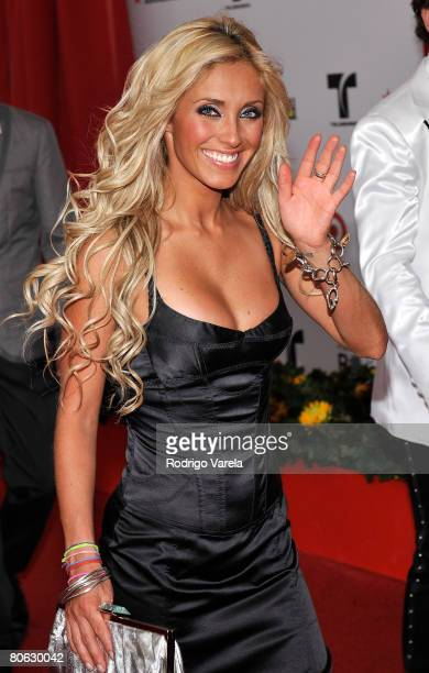 Musician Anahi of RBD attends the 2008 Billboard Latin Music Awards at the Seminole Hard Rock Hotel and Casino on April 10 2008 in Hollywood Florida