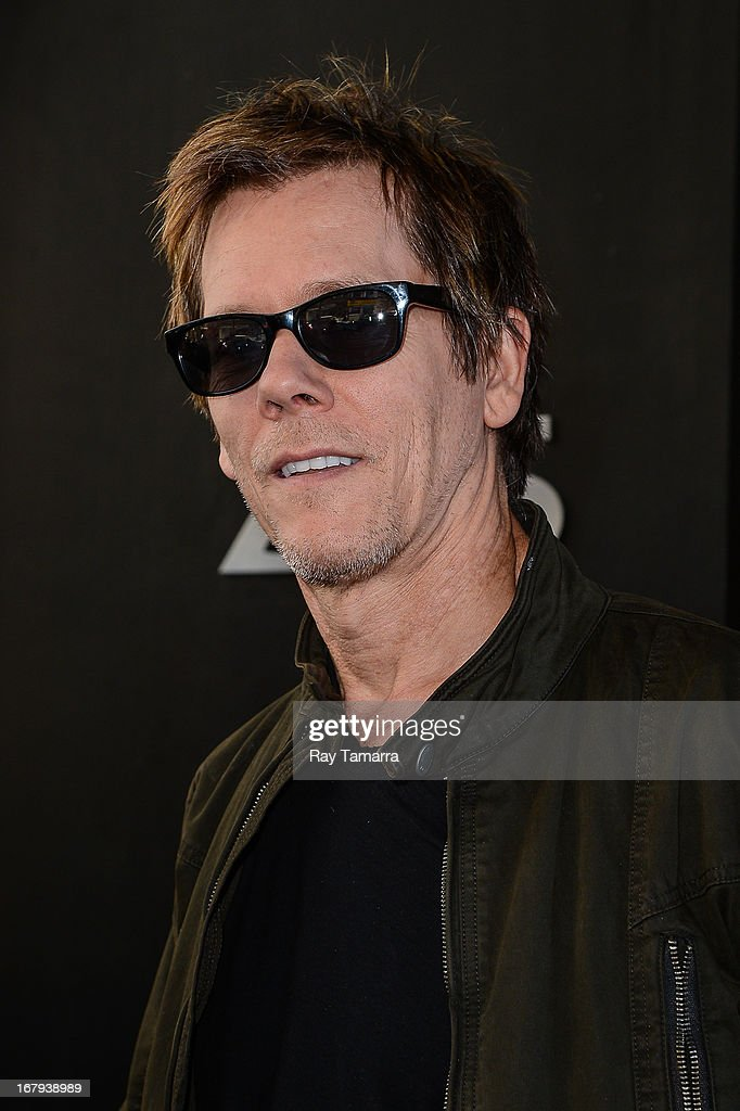 Musician and actor Kevin Bacon leaves the 'Good Day New York' taping at the Fox 5 Studios on May 2, 2013 in New York City.