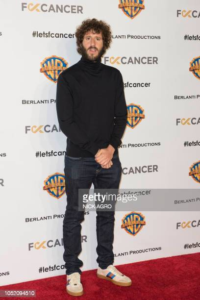 US musician and actor Lil Dicky arrives for the F*ck Cancer Gala at Warner Bros Studio in Burbank California on October 13 2018