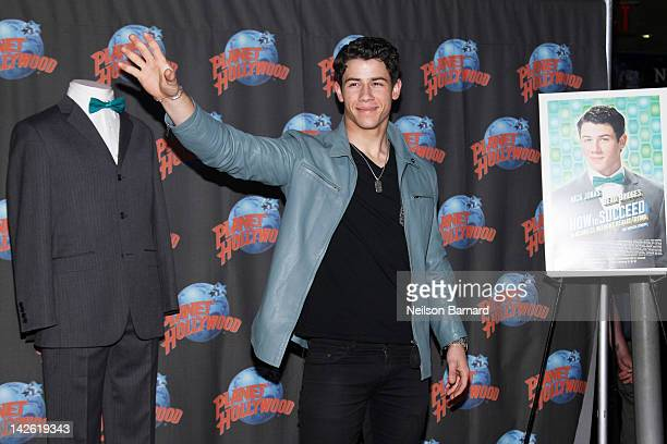 Musician and actor Nick Jonas visits Planet Hollywood Times Square on April 9 2012 in New York City