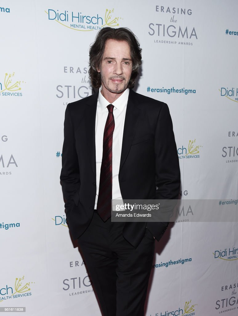 Musician and actor Rick Springfield arrives at the Didi Hirsch Mental Health Services' 2018 Erasing The Stigma Leadership Awards at The Beverly Hilton Hotel on April 26, 2018 in Beverly Hills, California.
