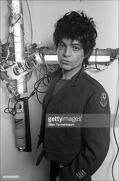 Musician and artist Alan Vega, of the group Suicide, in his studio, New York, New York, March 5, 1982.