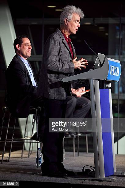 Musician and author David Byrne and Bruce Katz Vice President and Director Metropolitan Policy Program The Brookings Institution participate in the...
