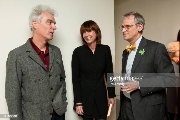 Musician and author David Byrne Janette SadikKhan Commissioner New York City Department of Transportation and Rep Earl Blumenauer attend the Cities...