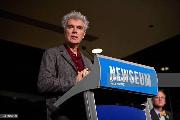 Musician and author David Byrne participates in the Cities Bicycles and the Future of Getting Around panel discussion hosted by The Brookings...