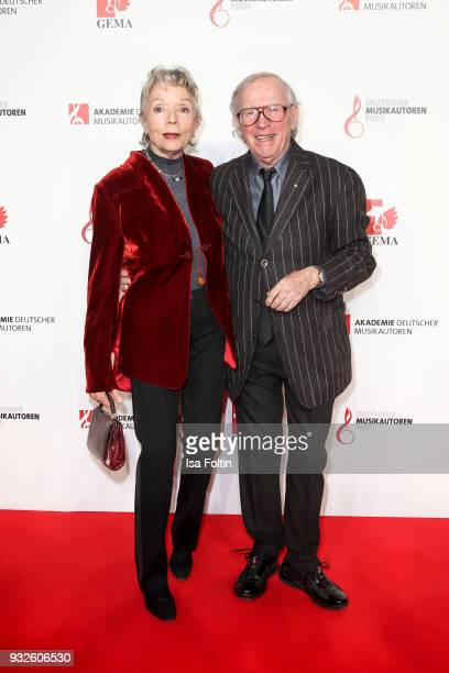 Musician and award winner Klaus Doldinger and his wife Inge Doldinger during the German musical authors award on March 15 2018 in Berlin Germany