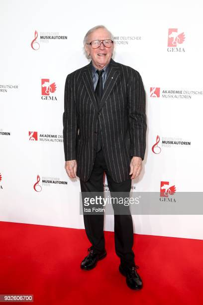 Musician and award winner Klaus Doldinger during the German musical authors award on March 15 2018 in Berlin Germany