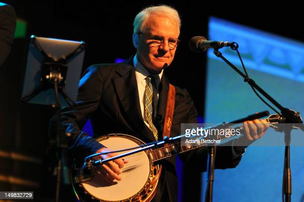 Musician and comedian Steve Martin performs during the 2012 Starkey Hearing Foundation's 'So the World May Hear Awards Gala on August 4 2012 in St...