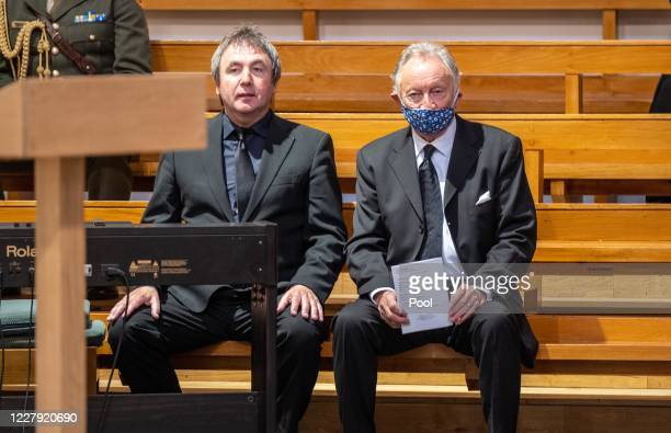 Musician and composer Phil Coulter attends as the funeral takes place of former SDLP leader and Nobel Peace Prize winner John Hume at St Eugene's...