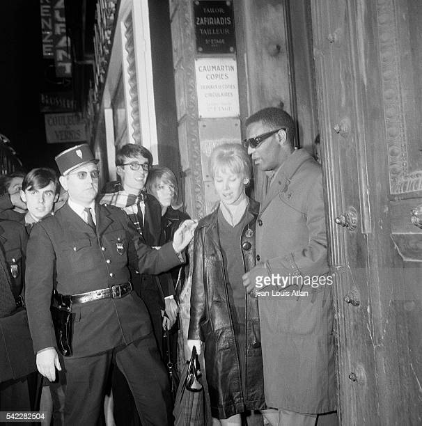 Musician and Composer Ray Charles after his show at the Olympia Hall