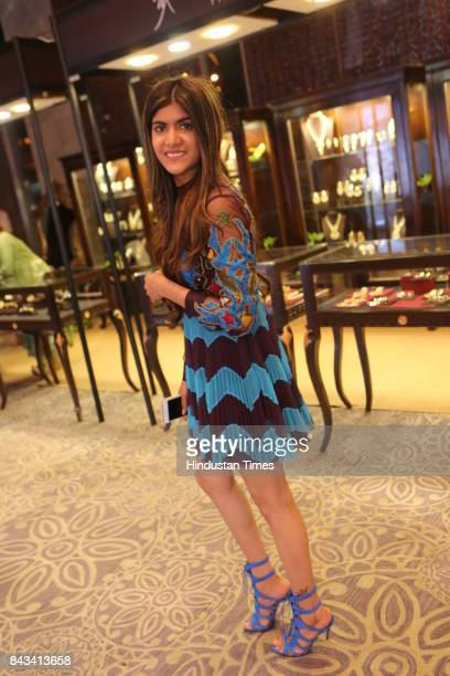 Musician and entrepreneur Ananya Birla during the celebration of 10 years of India on Canvas by Khushii at Crystal Ballroom JW Marriott Aerocity on...