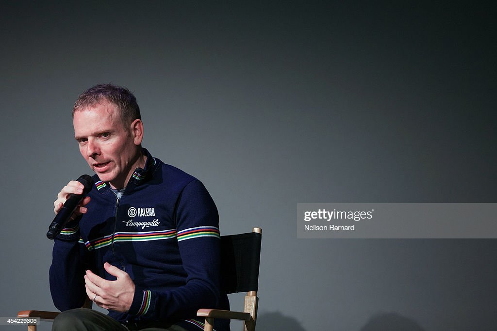 Musician and filmmaker Stuart Murdoch speaks on stage during the Apple series 'Meet the Filmmaker: Stuart Murdoch' and chats about his new film 'God Help the Girl' at Apple Store Soho on August 26, 2014 in New York City.