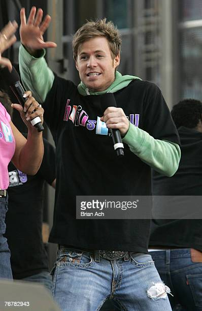 Musician and Hairspray cast member Ashley Parker Angel attends the 16th Annual Broadway on Broadway on September 16 2007 in New York City