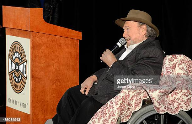 Musician and Hall of Fame Inductee Mac Wiseman speaks at the 2014 Country Music Hall Of Fame Inductees Announcement at the Country Music Hall of Fame...