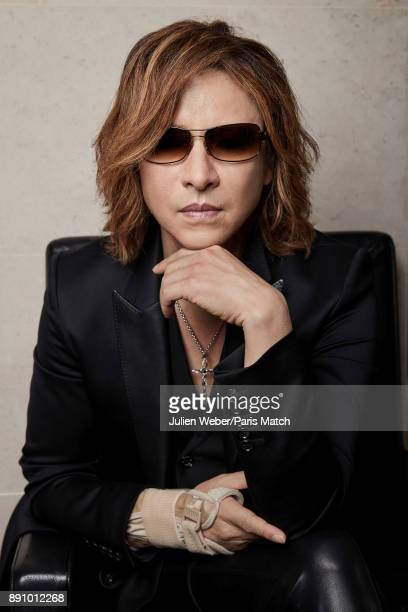 Musician and member of X Japan Yoshiki is photographed for Paris Match on October 24 2017 in Paris France