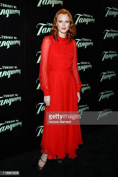 Musician and model Karen Elson Launches 'Tonight We Tanqueray' at The Green Building on July 13 2011 in New York United States