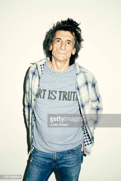 Musician and painter Ronnie Wood is photographed for the Telegraph magazine on May 27, 2020 in London, England.