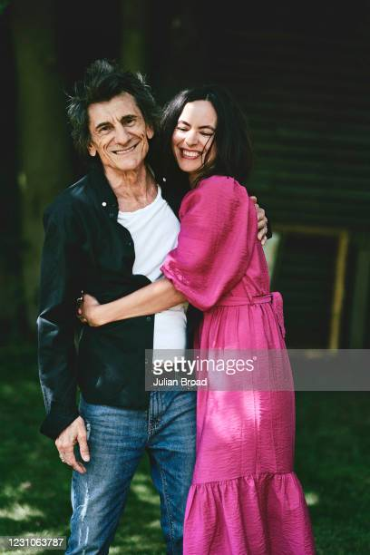 Musician and painter Ronnie Wood is photographed with his wife Sally Humphreys for the Telegraph magazine on May 27, 2020 in London, England.