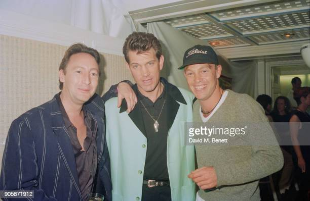 Musician and photographer Julian Lennon American musician Chris Isaak and Australian actor and singer Jason Donovan circa 1990