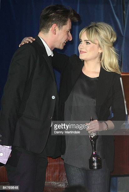 Musician and producer Bernard Butler and singer Duffy attend the Music Producers Guild Awards at Cafe de Paris on February 12 2009 in London England