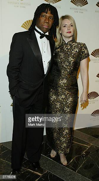 Musician and producer Nile Rodgers and girlfriend Nancy Hunt attend the gala opening of the Mandarin Oriental New York at the Mandarin Oriental...