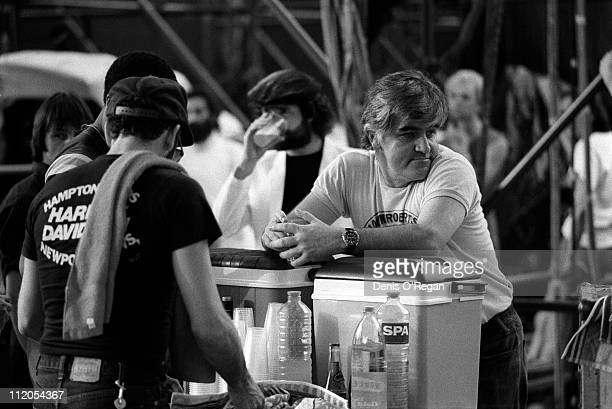 Musician and road manager Ian Stewart during a Rolling Stones concert 1982