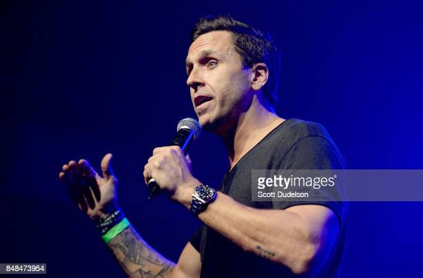 Musician and Rock to Recovery founder Wes Geer performs onstage during the second annual Rock to Recovery benefit concert at The Fonda Theatre on...